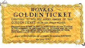 Ooompa Looompa..GOLDEN TICKET AWARD